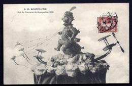 CPA ANCIENNE FRANCE- MONTPELLIER (34)- S.M. BOUFFE L'AIR- ROI DU CARNAVAL DE MONTPELLIER 1910- TRES GROS PLAN - Montpellier