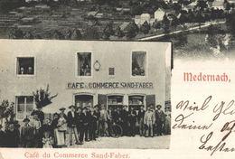 Cpa LUXEMBOURG  LUXEMBURG - MEDERNACH, Multi-vues, Café Du Commerce SAND-FABER - 1909 - Cartes Postales