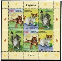 Tajikistan.2018 Cats(Butterflies).Sheetlet Of 6 (2 Strips) - Tadjikistan