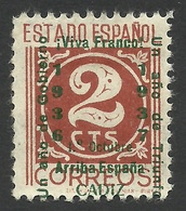 Spain, Cadiz 2 C. 1937, Mi # 18a, MH - Nationalist Issues