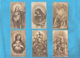 Lotto 6 Santini Serie EB Seppia Fustellati Maria SS. #Madonna Nr. 231,445,292,602,242 #Santino #Collezionismo - Religion & Esotericism