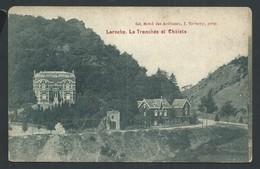 +++ CPA - LA ROCHE - La Tranchée Et Chalets - Pub Publicité Grand Hôtel Des Ardennes   // - La-Roche-en-Ardenne