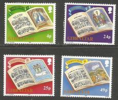 Gibraltar - 1991 Christmas MNH **    SG 664-7  Sc 600-3 - Gibraltar