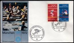 Germany Munich 1972 / Olympic Games Munich / Athletics, Canoeing / FDC - Ete 1972: Munich