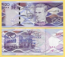 Barbados 20 Dollars P-76 2013 UNC - Barbades