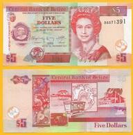 Belize 5 Dollars P-67e 2011 UNC - Belize