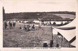 Cpa SAMOIS SUR SEINE 77 Camp De Barbeau - Entrée Du Camp - Samois