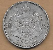 20 Francs Argent 1934  FL Pos B - 1909-1934: Albert I