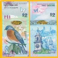 Bermuda 2 Dollars P-57b 2009 (Prefix A/1) UNC - Bermude