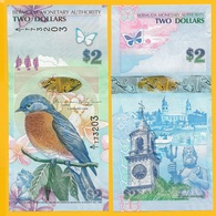 Bermuda 2 Dollars P-57b 2009 (Prefix A/1) UNC - Bermudes
