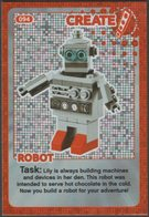 Lego Trading Card - Create The World - 094 Robot - Trading Cards