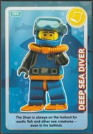 Lego Trading Card - Create The World - 095 Deep Sea Diver - Trading Cards