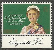 Gibraltar - 1980 Queen Mother Birthday MNH **    SG 436 - Gibraltar