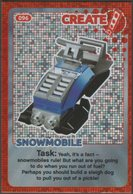 Lego Trading Card - Create The World - 096 Snowmobile - Trading Cards