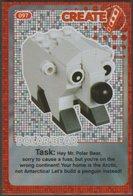 Lego Trading Card - Create The World - 097 Polar Bear - Trading Cards