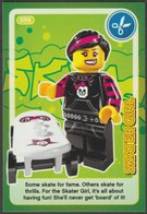 Lego Trading Card - Create The World - 098 Skater Girl - Trading Cards