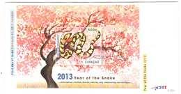 Curacao FDC E28A Zonder Adres. Jaar Van De Slang, Year Of The Snake, Date Of Issue: 22-2-2013 - Curaçao, Nederlandse Antillen, Aruba