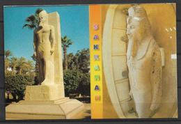 EGYPT POSTCARD MEMPHIS THE COLOSSUS OF RAMSES 11 - Egypt