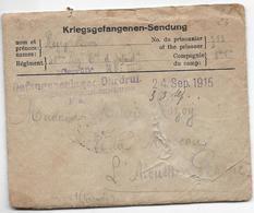 Guerre 14 18 SENDUNG Allemagne Enveloppe Avec Sa Correspondance 8 Pages Prisonnier 24.9.1915 Pour L'ALOUETTE PESSAC ...G - Autres