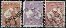 Australie - 1931 - Y&T N° 84, 85, 85 A, Oblitérés. Filigrane VI - Used Stamps