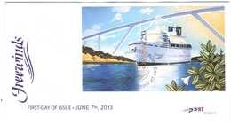 Curacao FDC E33A Zonder Adres. Cruiseschip Free Winds, Date Of Issue: 7-6-2013 - Curaçao, Nederlandse Antillen, Aruba