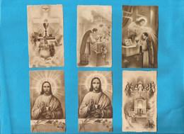 Lotto 6 Santini Serie EB Seppia Fustellati #Eucarestia Nr. 261,261b,858,635,130,544  #Santino #Collezionismo - Religion & Esotericism