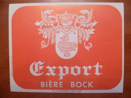 étiquette Ancienne Brasserie EXPORT Bière Bock Paul Lutun A OYE PLAGE - Bière