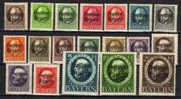Bayern 1919 Mi 152-169 A *; 170 A (*) [011218IX] - Bavière