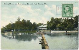 OH - FINDLAY - Bathing Houses And Boat Livery - Etats-Unis