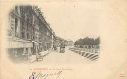 CPA 33 Bordeaux Gironde Le Quai Bourgogne Précuseur Circulée 1901 Attelage Cheval Epicerie Calèche - Bordeaux