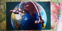 "Soviet Concurs ""Space"" - Soyuz Apollo Station Model - Old USSR Postcard 1978 - Espace"