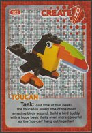 Lego Trading Card - Create The World - 103 Toucan - Trading Cards