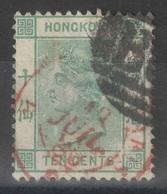 Hong Kong - YT 40a Oblitéré B62 + Cachet Rouge De Paris - Hong Kong (...-1997)