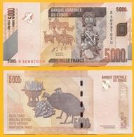 Congo 5000 Francs P-102b 2013 UNC - Congo