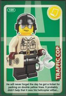 Lego Trading Card - Create The World - 109 Traffic Cop - Trading Cards