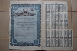 VECCHIA AZIONE AUTO FABBRICA AUTOMOBILI ISOTTA FRASCHINI CERTIFICATO AZIONARIO DA 100 AZIONI MILANO 1946 - Automobilismo