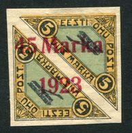 Estonia  1923 Mi 45 BI MLH Signed - Estonie