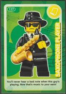 Lego Trading Card - Create The World - 117 Saxophone Player - Trading Cards