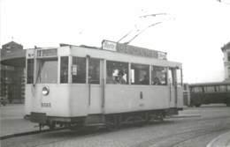 Belgique - Malines Mechelen - Photo D'un Tramway à La Gare En 1951 - Reproduction Années 70/80 ? - Lieux