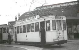 Belgique - Malines Mechelen - Photo D'un Tramway à La Gare En 1951 - Reproduction Années 70/80 ? 2 - Lugares