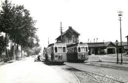 Belgique - Tongeren / Maaseik - Photo De Tramway à La Gare Vers 1950 - Reproduction Années 1970/80 ? - Places