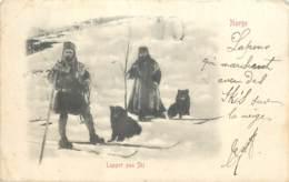 Norvege - Lapper Paa Ski 1905 - Norvège