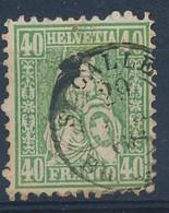 "HELVETIA - Mi Nr 26- Zittende Helvetia Assise  - Cachet ""ST-GALLEN"" - Cote 60,00 € (ref. 129) - 1862-1881 Sitted Helvetia (perforates)"