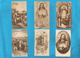 Lotto 6 Santini Serie EB Seppia Fustellati Cristo RE Nr. 267,367,857,165,661 #Santino #Collezionismo - Religion & Esotericism