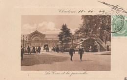 Charleroi.  La Gare Et La Passerelle.---scan-- - Charleroi