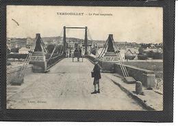 78-VERNOUILLET-Une Vue Animée Du Pont Suspendu à Péage -Attelage - Vernouillet
