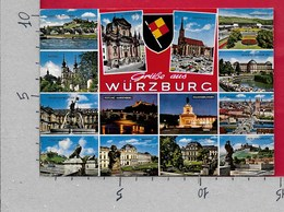 CARTOLINA VG GERMANIA - Gruss Aus WURZBURG - Vedutine Multivue - 10 X 15 - ANN. 1973 - Saluti Da.../ Gruss Aus...