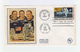Enveloppe Premier Jour First Day On The Moon. 9 Sep. 1969. CAD Washington Et Moon Landing. (918) - Premiers Jours (FDC)