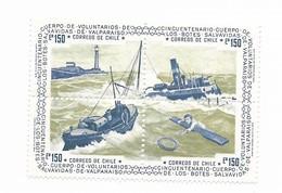 CHILE 1975, CUERPO DE VOLUNTARIOS BOTES SALVAVIDAS, VOLUNTEERS LIFEBOATS, BLOCK OF FOUR MI 826-29 - Chili