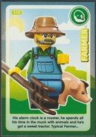 Lego Trading Card - Create The World - 119 Farmer - Trading Cards